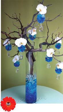 1st place photo from the Deco Beads floral design contest