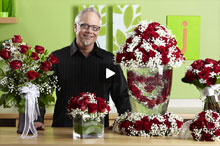 image of deco beads heart centerpiece video tutorial