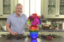 Rainbow centerpiece video tutorial
