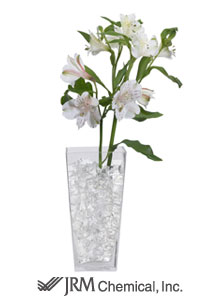 photo of clear Deco Cubes in a vase