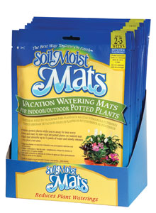 photo of Soil Moist Vacation Mats shelf display